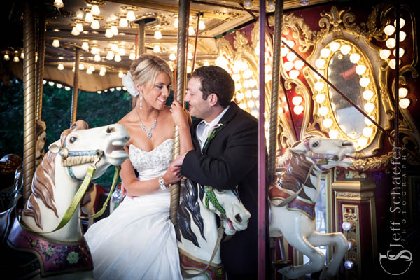 Moonlite Gardens Coney Island Carousel Wedding