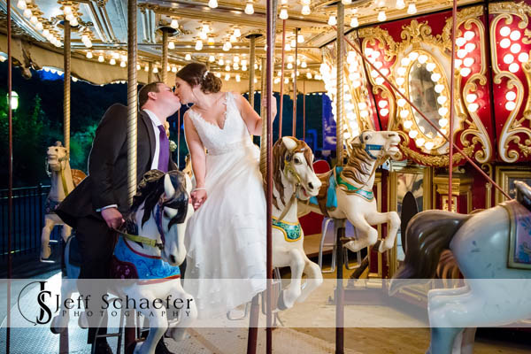 Coney Island Cincinnati Wedding Carousel